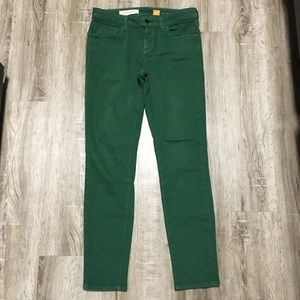 Anthropologie Pilcro Emerald Green Ankle Pants 27
